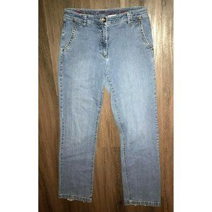 Blue Willis Womens Size 40 Flare Medium Blue Jeans